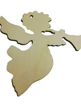 Aniołek dekoracja drewniana ze sklejki 12 cm ozdoba ze sklejki 3mm
