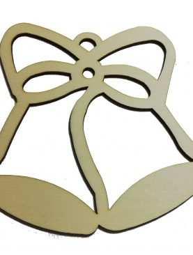 Dzwoneczki drewniane ze sklejki 12 cm ozdoba ze sklejki 3mm