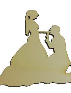 Figurka Topper toper na tort ślubny DREWNIANY wzór 1