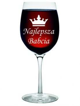 Kieliszek do wina dla BABCI dzień BABCI GRAWER prezent