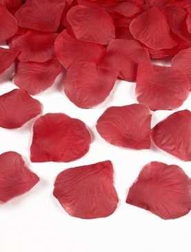 Płatki róż 100 szt sztuczne konfetti CZERWONE