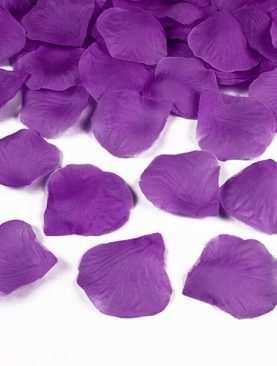Płatki róż 100 szt sztuczne konfetti FIOLETOWE