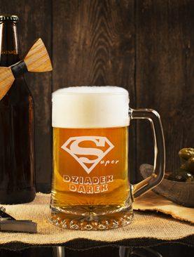 Duży Kufel na piwo z dowolnym grawerem Prezent