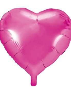 Balon foliowy foliowe SERCE serca RÓŻOWE pink