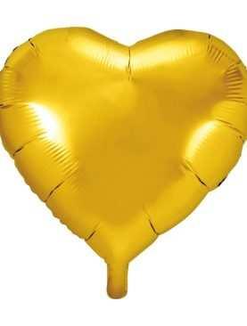 Balon foliowy foliowe SERCE serca ZŁOTE gold