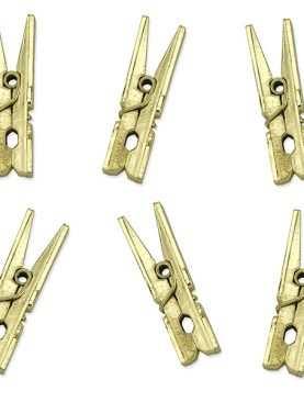 Klamerki spinacze drewniane ozdobne ZŁOTY złote 10 szt