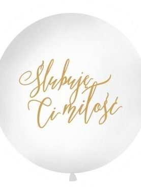 Balony metrowe Ślubuję Ci miłość złoty 100cm mega do SESJI lub DEKORACJI