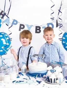 Zestaw Urodzinowy URODZINY ROCZEK Topper balony BOX SAMOLOCIK