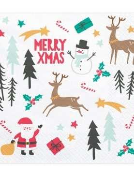 Serwetki chusteczki Świąteczne Merry Christmas 20