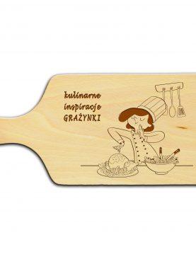 Deska z indywidualnym grawerem dla Szefowej Kuchni