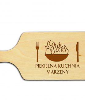 Deska kuchenna z napisami na prezent