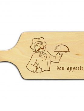 Deska z personalizowanym grawerem z postacią kucharza