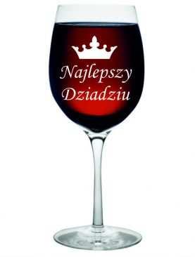 Kieliszek do wina dla dzień Dziadka GRAWER prezent