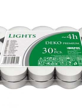 Podgrzewacze świeczki tea lighty BIAŁE 30szt