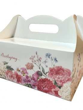 Pudełko na ciasto weselne pudełka tekturowe WZÓR RÓŻE
