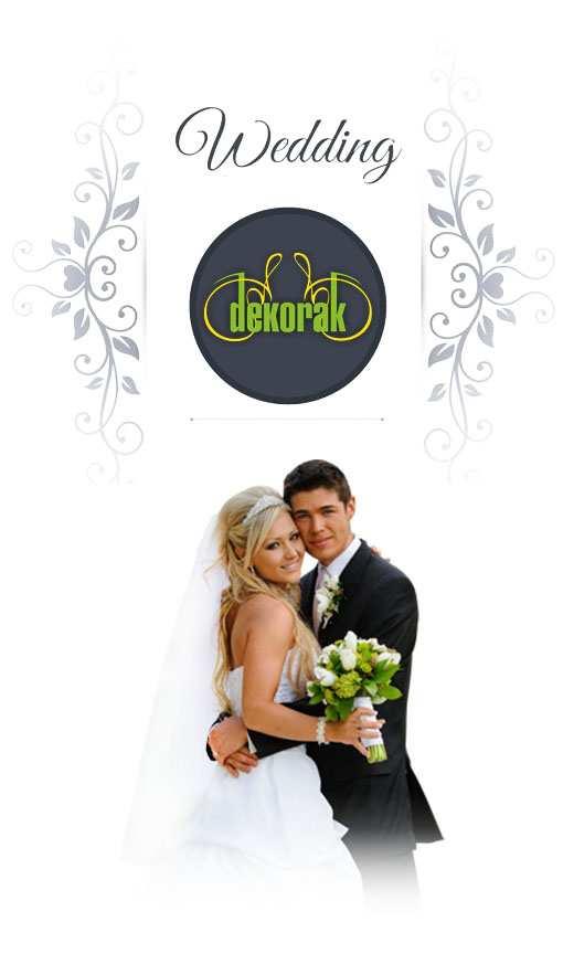 oferta ślubna dekorak