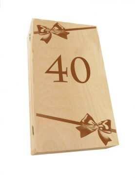 Kuferek SKRZYNECZKA urodzinowa z GRAWEREM na 40te urodziny