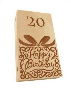 Kuferek SKRZYNECZKA urodzinowa z GRAWEREM na 20ste urodziny