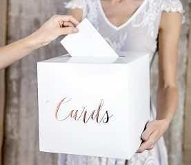 Pudełko na koperty kopertówka na pieniądze RÓŻOWE ZŁOTO