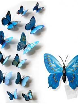 Motylki 3D z PCV na magnesie lub taśmie dwustronnej GRANATOWE
