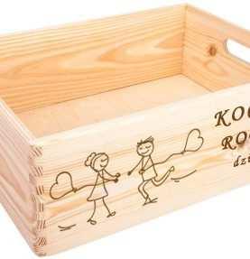 Skrzynka dla Rodziców podziękowanie PREZENT grawer 30x40 cm wzór 1