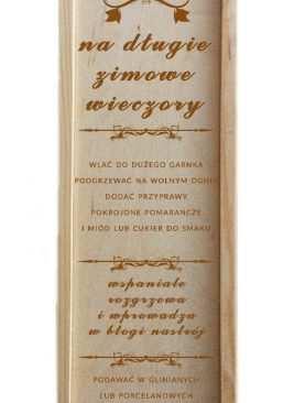 Skrzynki na wino z grawerem WZÓR 12 dla Świadków Gości Pary Młodej
