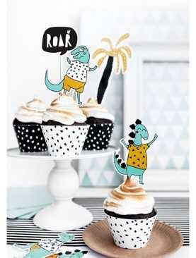 Topper na tort DINOZAURY zwierzątka urodzinowy DINO PARTY