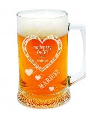 Personalizowany Kufel do piwa NAJLEPSZY FACET