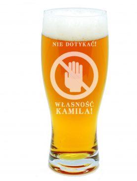 Szklanka na piwko WŁASNOŚĆ PRYWATNA