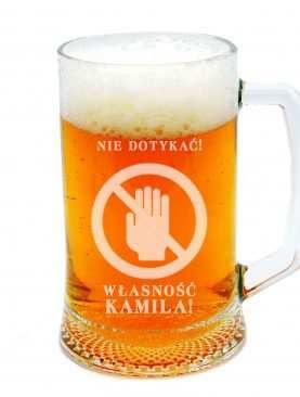 Kufel do piwa z imieniem WŁASNOŚĆ PRYWATNA