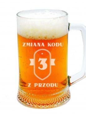Kufel do piwa z personalizacją NA 30stkę 40 50
