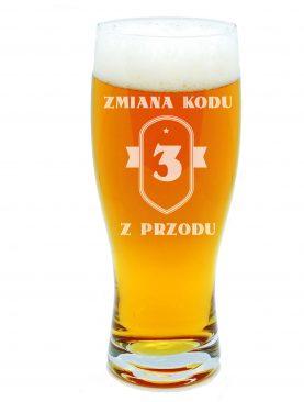 Kufel do piwa ZMIANA KODU grawer indywidualny