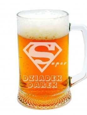 SUPER DZIADEK ze znakiem supermana Kufel na piwo