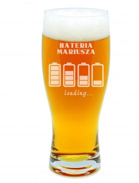 Szklanka na piwo BATERIA naładowana