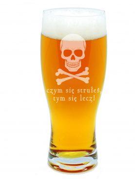 Szklanka na piwo Czym się strułeś z CZASZKĄ