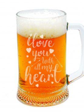 Kufel na piwo z okazji Walentynek