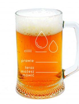 Kufel na piwo z miarką PODZIAŁKA Ciii