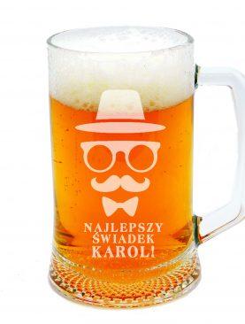 Kufel na piwo motyw WĄSÓW i kapelusza