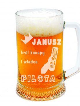 Kufel na piwo Janusz na kanapie