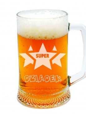 Kufel do piwa SUPER DZIADEK z gwiazdą