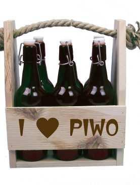 Skrzynka z grawrem I Love piwo