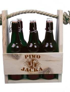 Skrzynka na piwo PREZENT z grawerunkiem