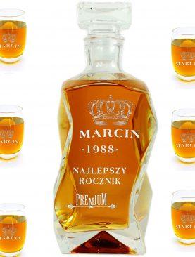 Komplet - Karafka + 6 szklanek do whisky