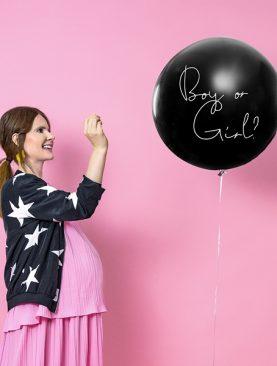 Balon metrowy BOY or GIRL z konfetti - przekaż cudowną wiadomość