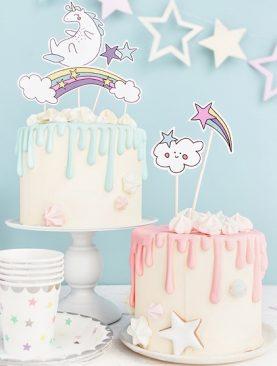 Topper na tort JEDNOROŻEC na roczek, chrzest lub urodziny