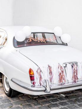 Zestaw do dekoracji samochodu - Just Married