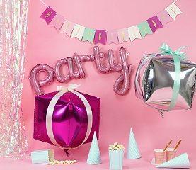 Mega Balon foliowy PARTY w kolorze różowym