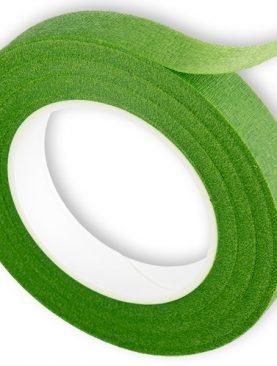 Taśma florystyczna maskująca jasno zielona 12mm/27m