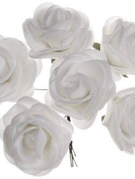Różyczki piankowe do dekoracji 6 sztuk