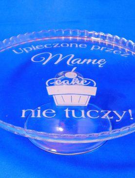 Patera na ciasto z grawerunkiem prezent dla mamy, babci, koleżanki